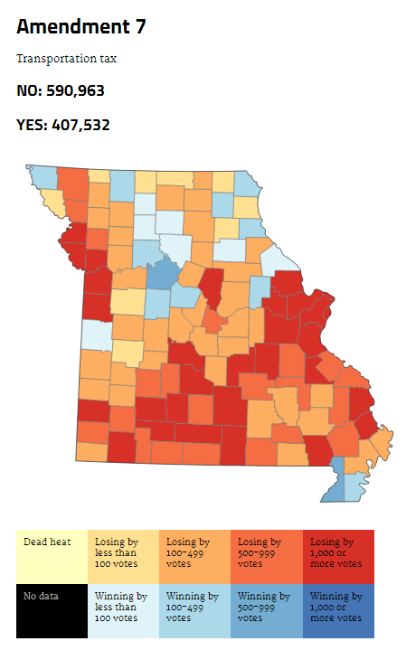 Winners And Losers At A Glance    The Votes County By County   St. Louis Public Radio