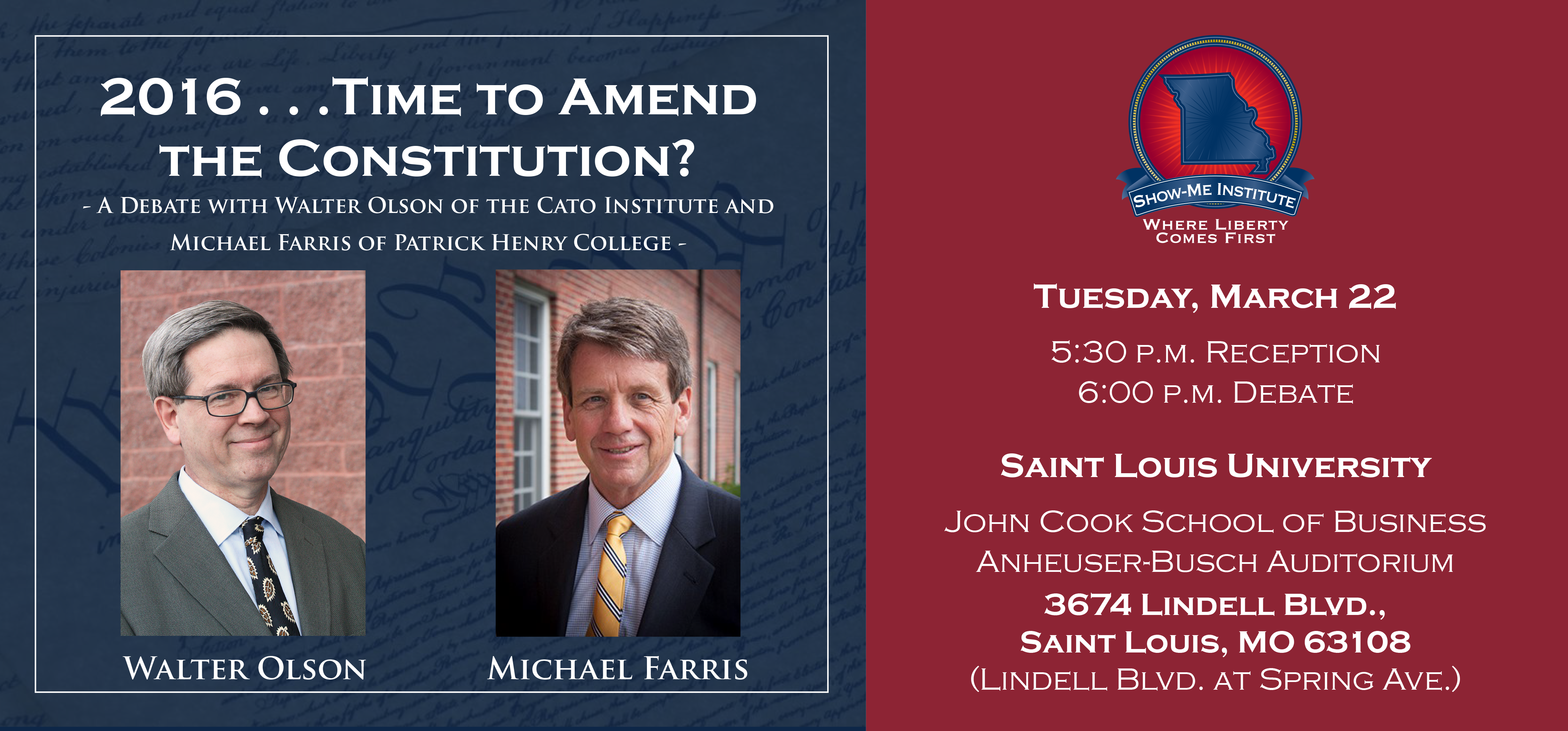 2016 . . . Time to Amend the Constitution? | Show-Me Institute