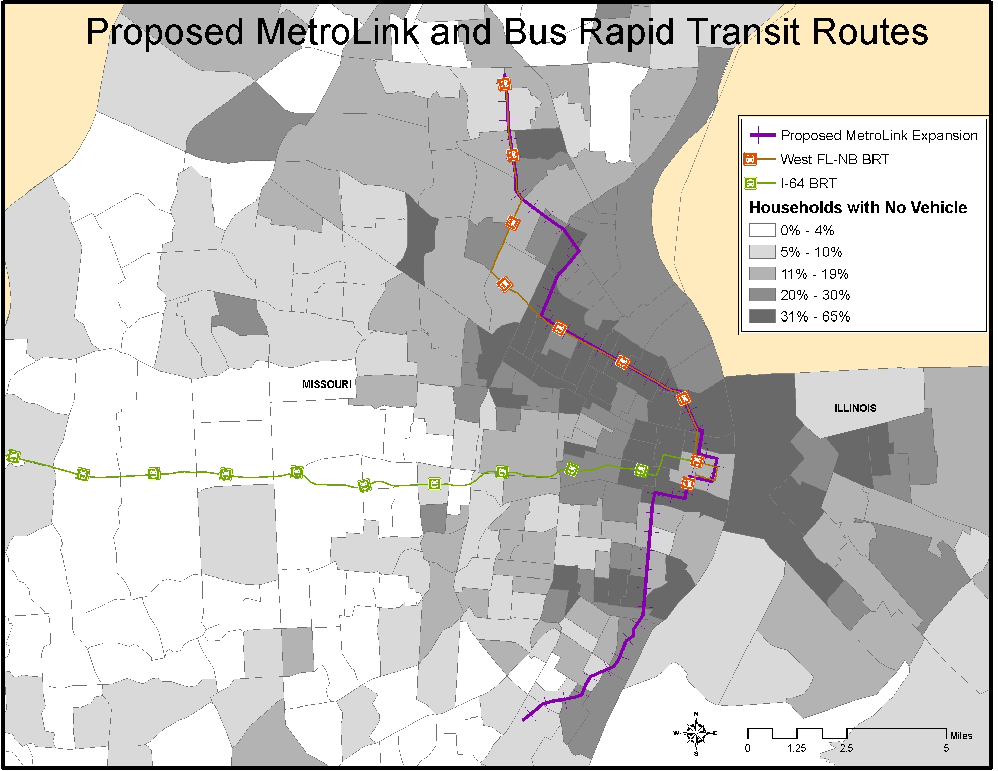 Map Series III Proposed MetroLink and Bus Rapid Transit Routes