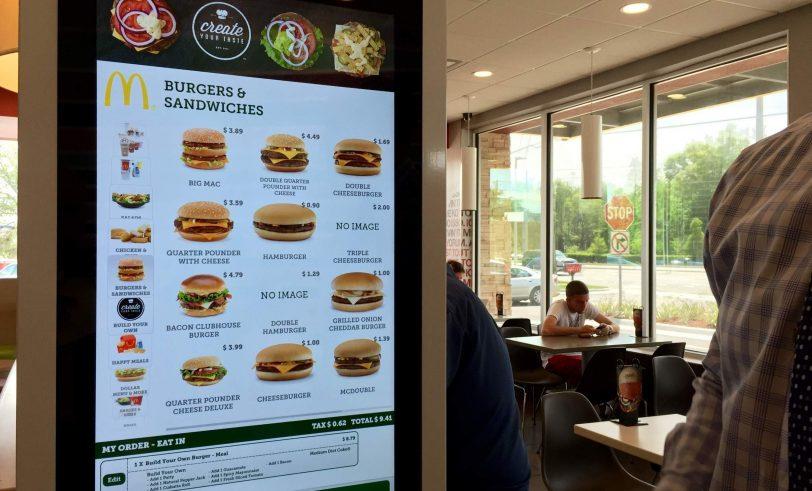The kiosk at McDonalds
