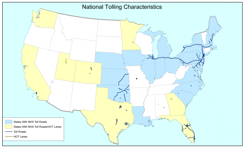 National Tolling Characteristics map