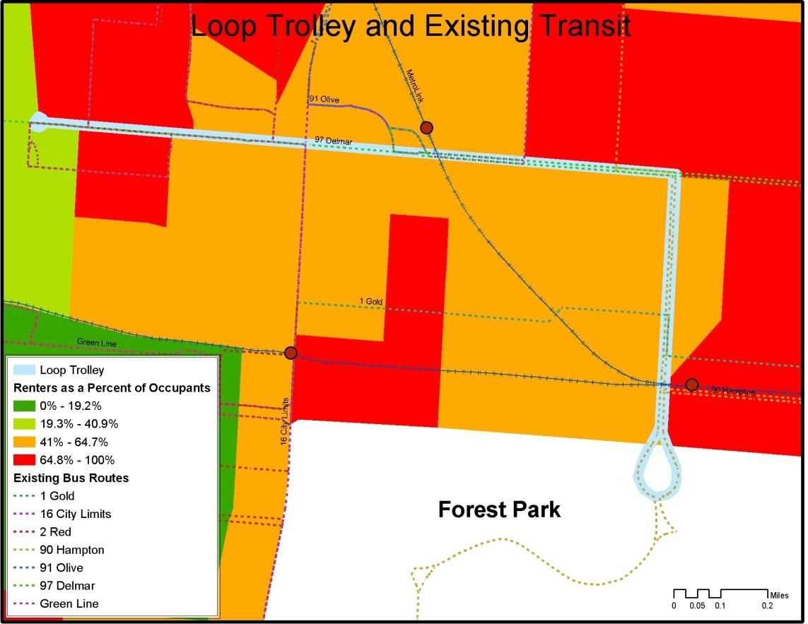 Delmar Loop trolley map
