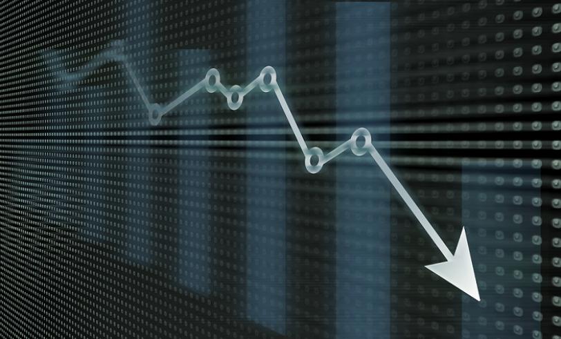 Bar graph showing general decline