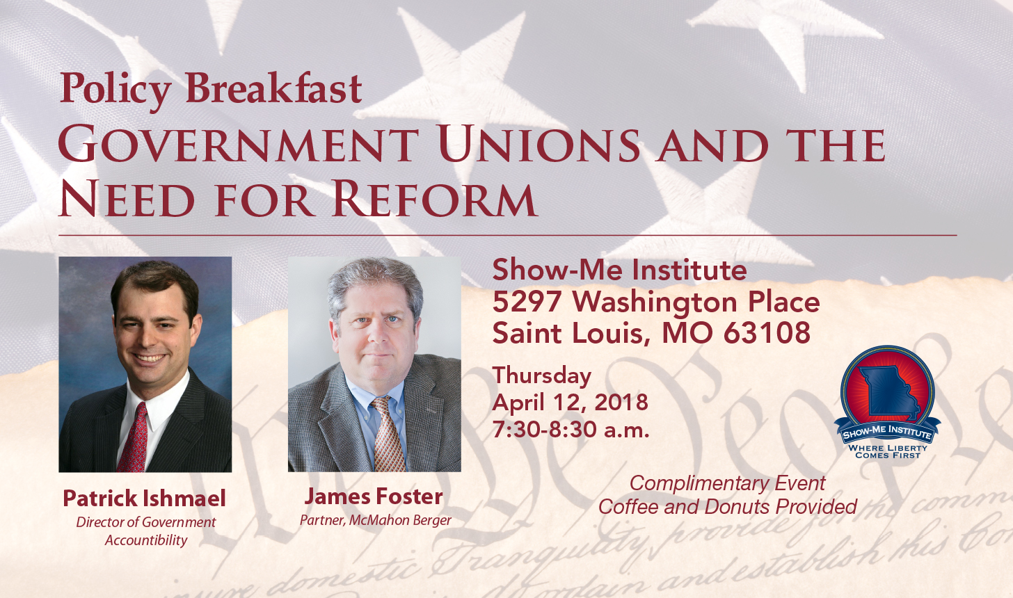 Show-Me Institute Policy Breakfast