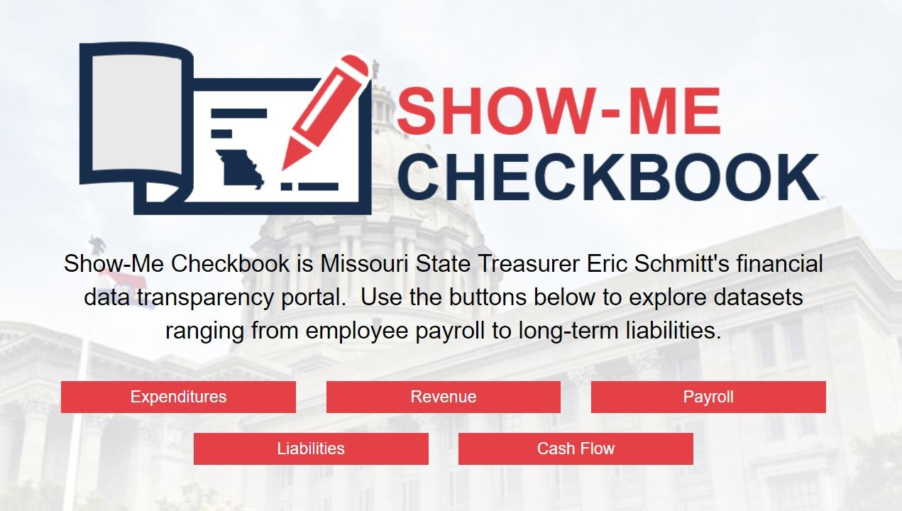 Missouri Checkbook home page