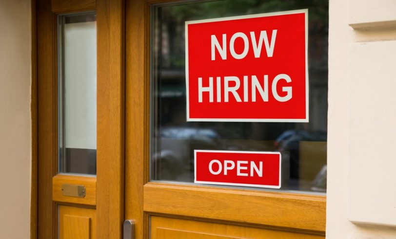 Sign: Now Hiring