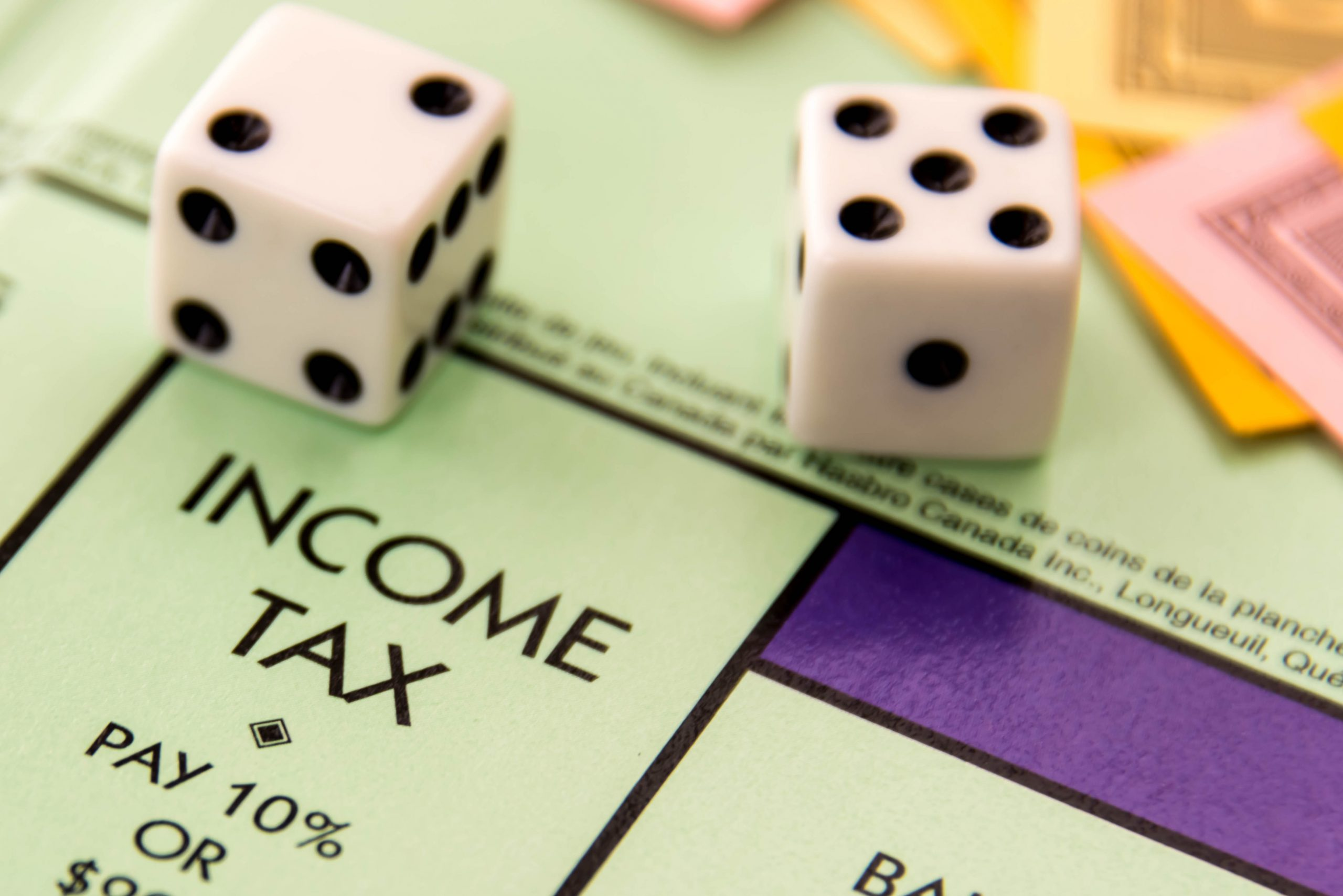Income tax on monopoly board