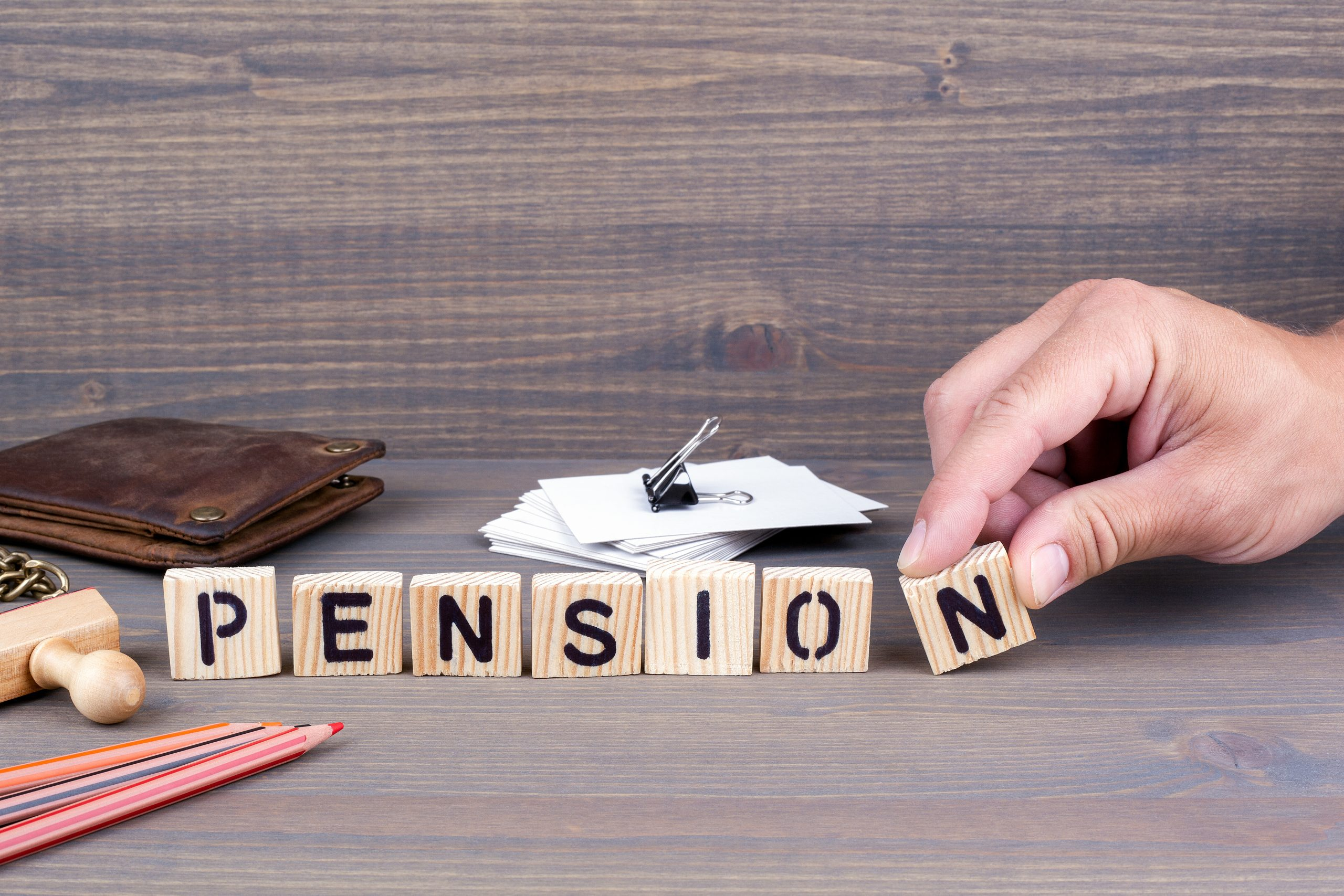 Pension text blocks