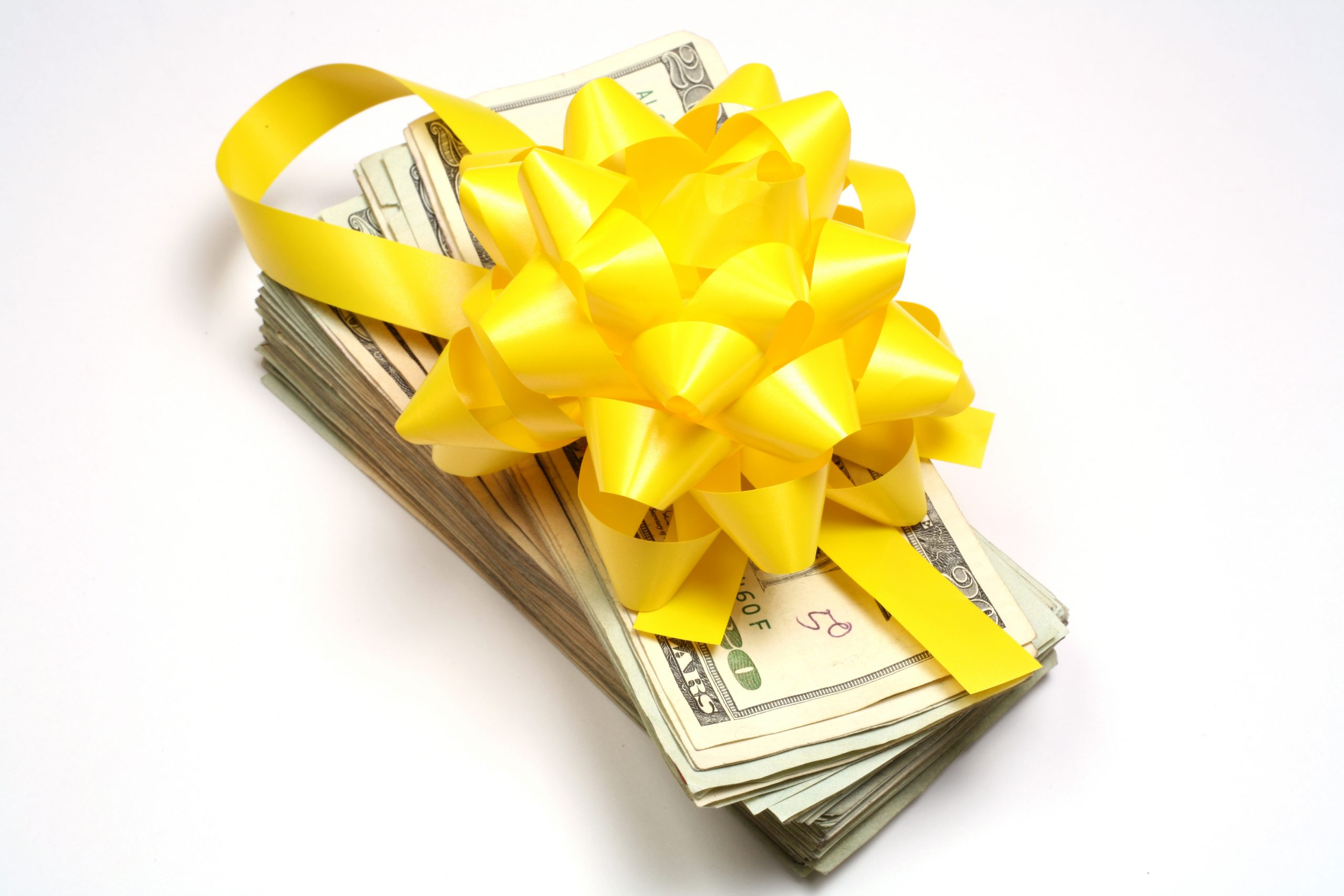 Gift wrapped money