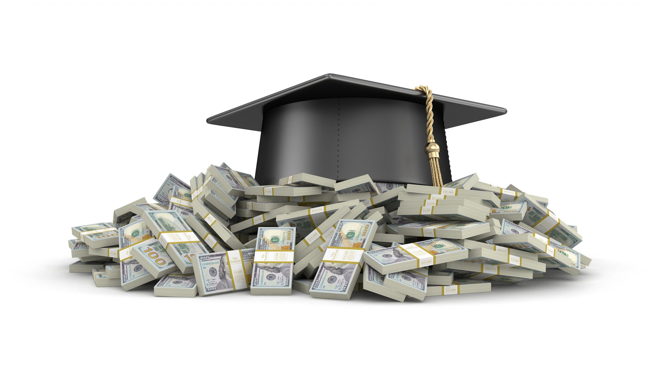 Graduation cap dollars