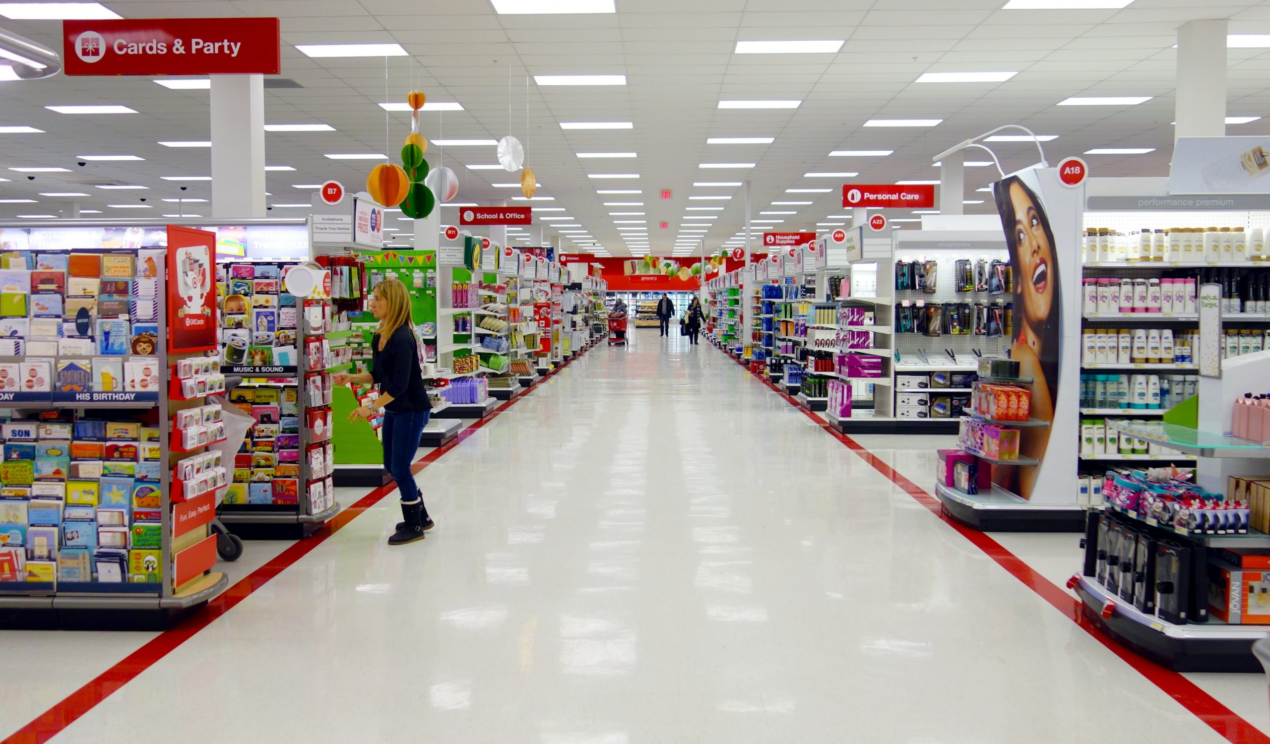 Inside of Target store
