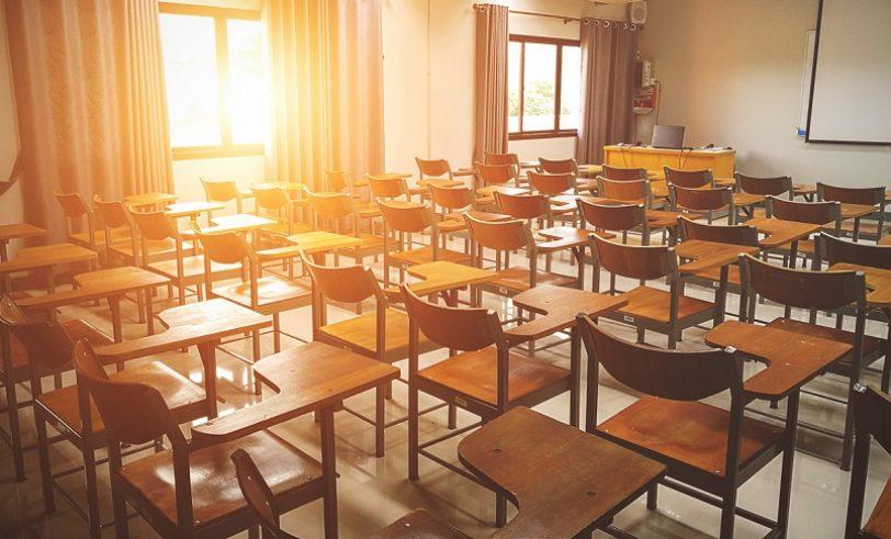 Sunlit classroom