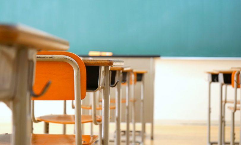 Desks in school