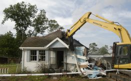 House being torn down>