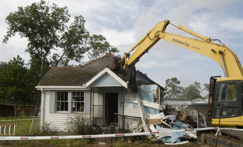 House being torn down