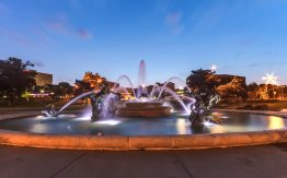 Kansas City fountain>