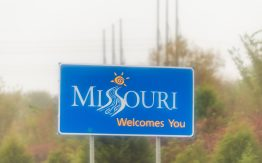 Welcome to Missouri sign>