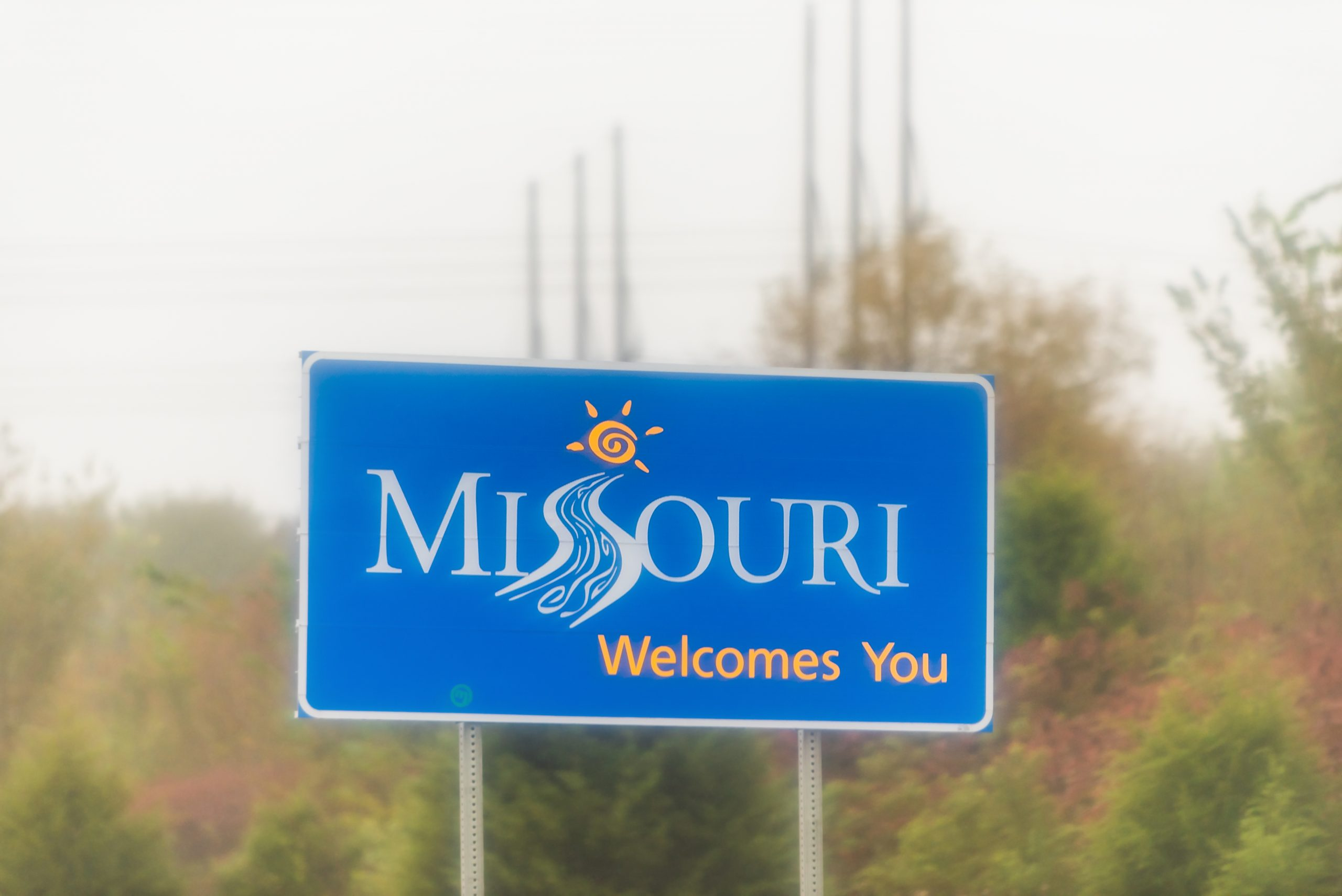 Welcome to Missouri sign