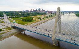 Bridge over a river>