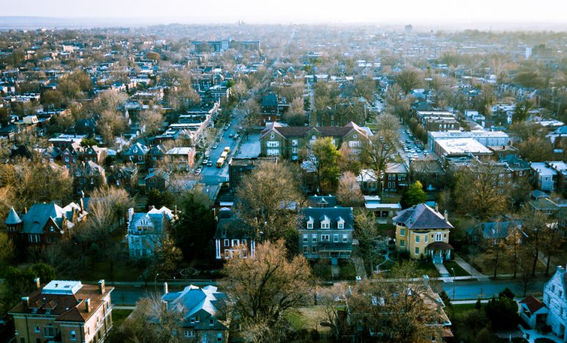 Aerial view of South St. Louis