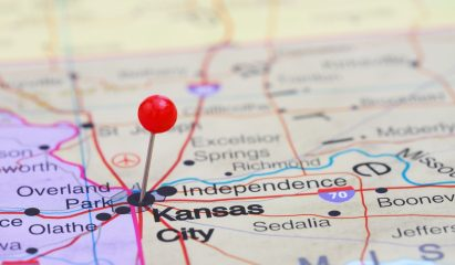 Map showing Kansas City>