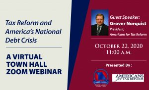 Post October 22: Virtual Town Hall with Grover Norquist – Tax Reform and America's National Debt Crisis Thumbnail