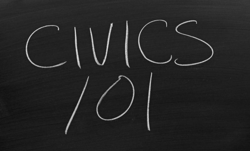 Civics education blackboard