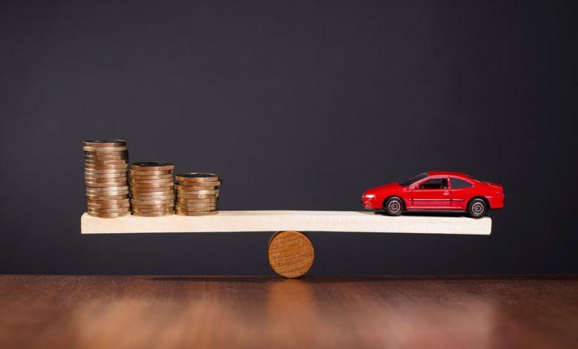 Car and coins balancing