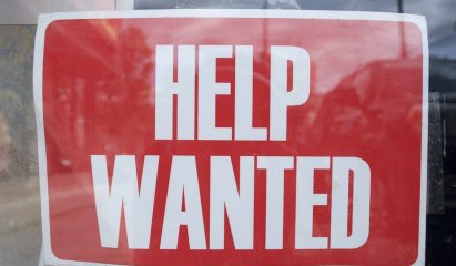 Help Wanted sign>
