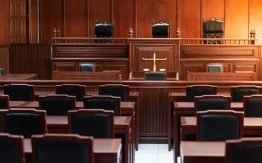 Empty courtroom>