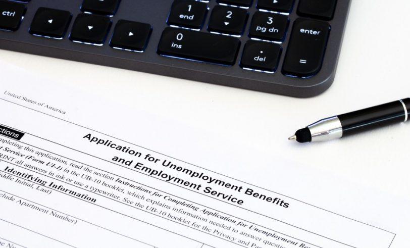 Unemployment benefits form