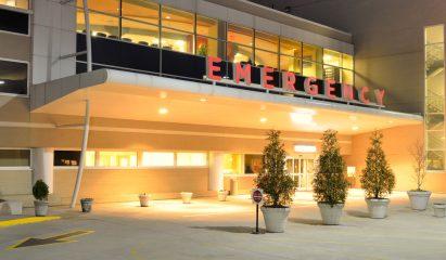 Hospital entrance>