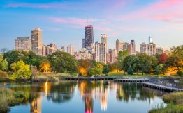 Chicago skyline>