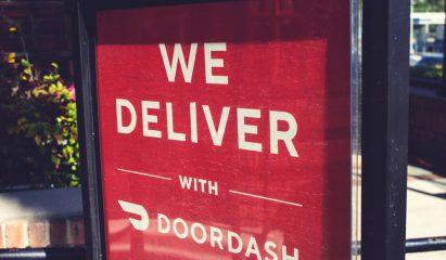 Doordash sign>